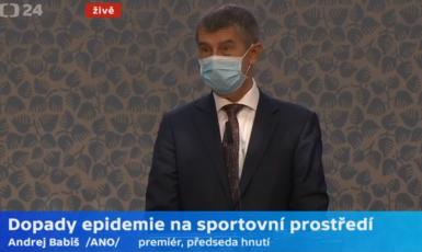 Andrej Babiš: Nešlo to jinak, než že se samospráva s námi podělila  (Screenshot ČT)