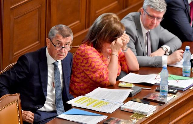 Premiér Andrej Babiš, ministryně financí Alena Schillerová a ministr průmyslu a obchodu Karel Havlíček (všichni ANO) (ČTK)