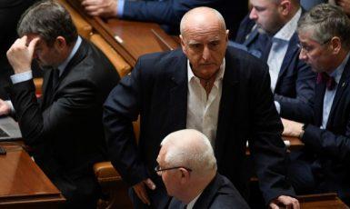 Předseda Volebního výboru Poslanecké sněmovny Stanislav Berkovec  mezi poslanci ANO (ČTK)