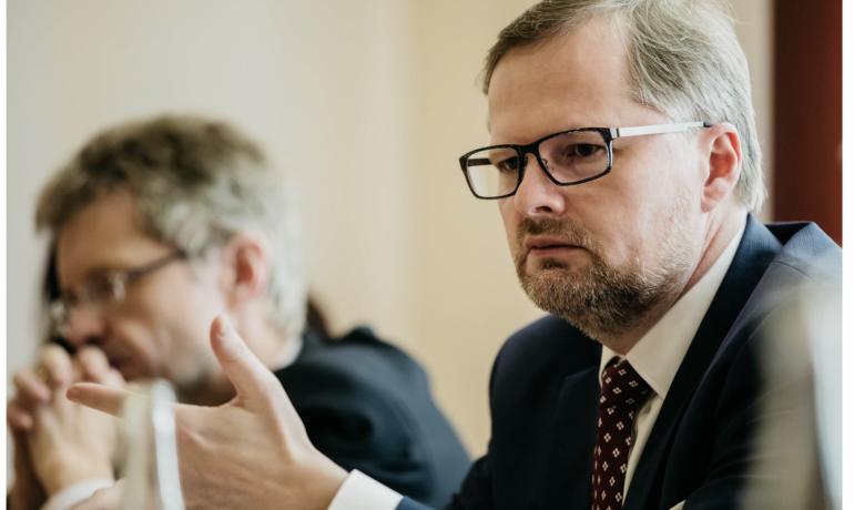 Petr Fiala a Miloš Vystrčil (ODS)