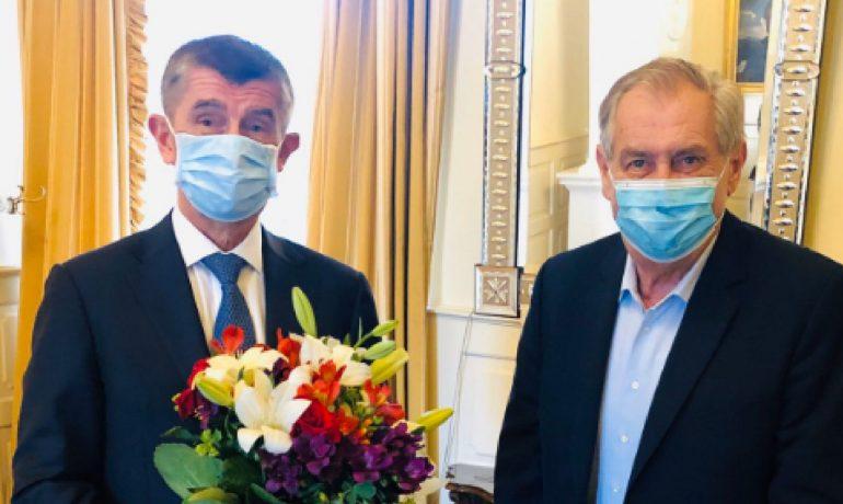 Premiér Andrej Babiš a prezident Miloš Zeman v Lánech  (ČTK)