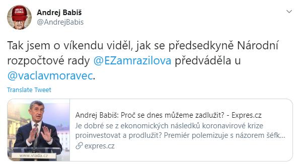 Twitter Andrej Babiš
