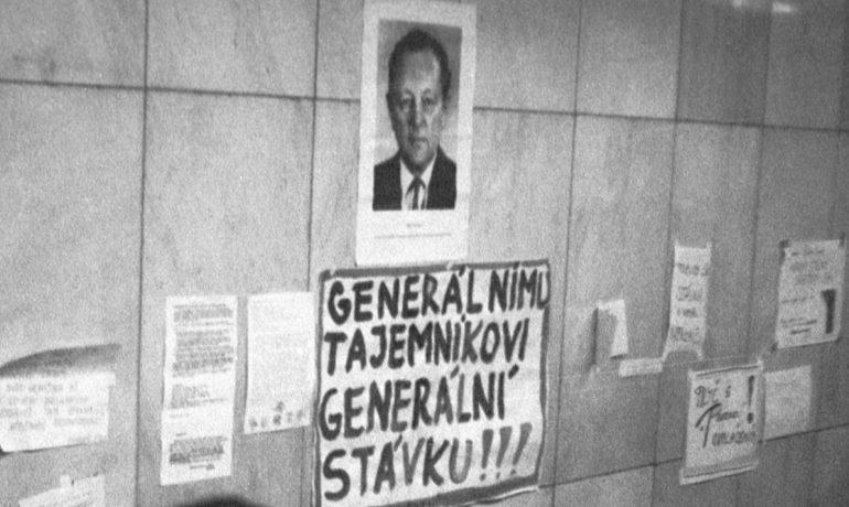 Miloš Jakeš jako negativní ikona sametové revoluce (wikipedie)