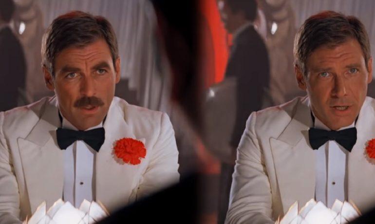 Tom Selleck a Harisson Ford jako Indiana Jones  (YouTube)