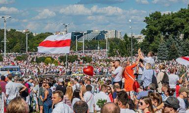 Protesty v Bělorusku, ilustrační foto (Wikipedie)