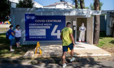 Covid centrum k odběru vzorků – ilustrační foto  (ČTK)
