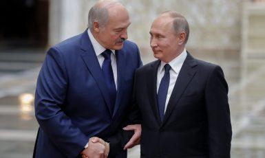 Alexandr Lukašenko a Vladimir Putin (FB)