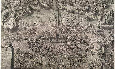 Mariánský sloup v Praze jako střed Evropy - univerzitní teze Jana Bedřicha z Valdštejna (1661) (archiv autora)