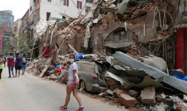 Expoloze v Bejrútu (Filip Brassier/Člověk v tísni)