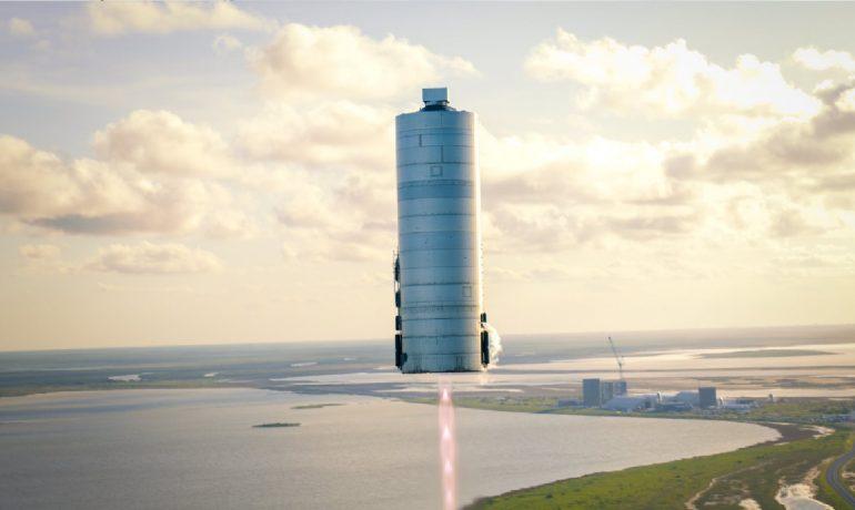 """První testovací """"skok"""" lodě Starship. (Elon Musk @elonmusk)"""