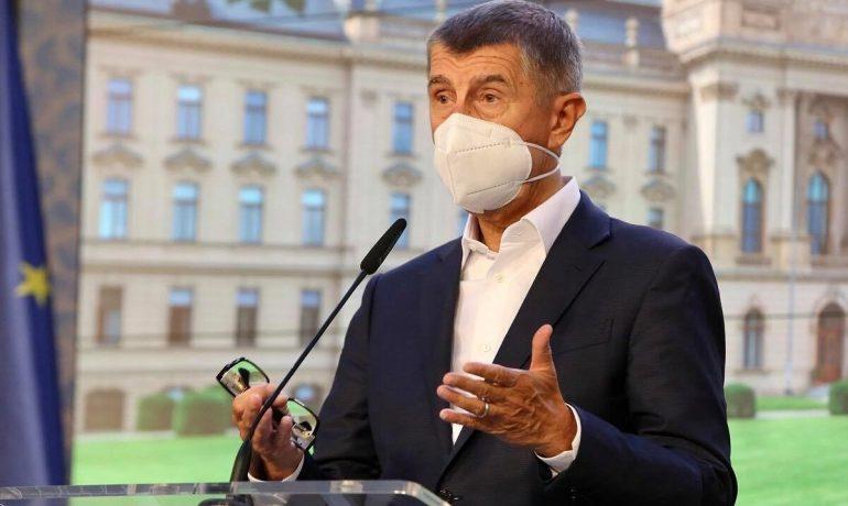Premiér Andrej Babiš na tiskové konferenci po jednání vlády  (ČTK)