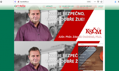 print screen webových stránek KSČM v Královéhradeckém kraji