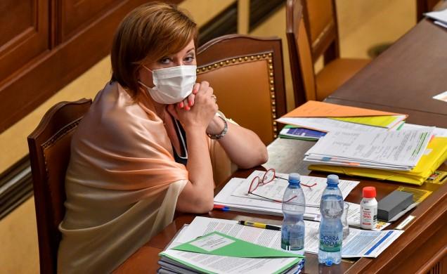 Ministryně financí Alena Schillerová (ANO) v poslanecké sněmovně (ČTK)