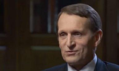Sergej Naryškin, šéf ruské rozvědky SVR  (YouTube)
