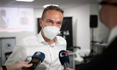 Předseda Pirátů Ivan Bartoš  (FB Ivana Bartoše)