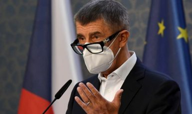 Premiér Andrej Babiš (ANO) na tiskové konferenci vlády   (ČTK)