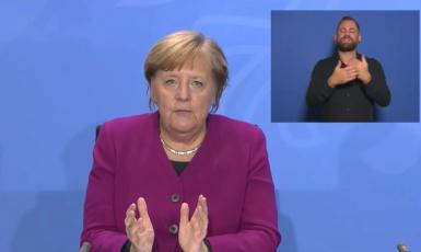 Německá kancléřka Angela Merkelová (screenshot Focus.de)