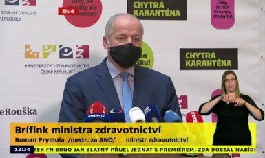 Sám neodstoupím. Ministr zdravotnictví Roman Prymula  (printscreen ČT, Twitter Poslední Scaut)