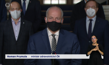 Ministr zdravotnictví Roman Prymula  (Screenshot ČT)