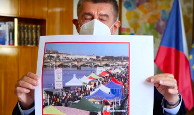 Andrej Babiš a trhy na Náplavce (youtube)