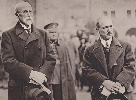 Masaryk a Beneš – obnovitelé české státnosti v podobě republikánského a demokratického Československa (archiv NO)