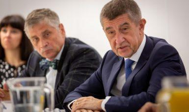 Hejtman Moravskoslezského kraje Ivo Vondrák a premiér Andrej Babiš (oba ANO) (ČTK)