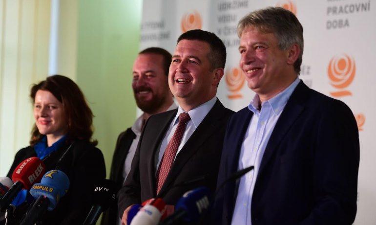 Jana Maláčová, Ondřej Veselý, Jan Hamáček a Roman Onderka (ČSSD) (ČSSD)
