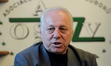 Předseda Asociace samostatných odborů Bohumír Dufek  (ČTK)