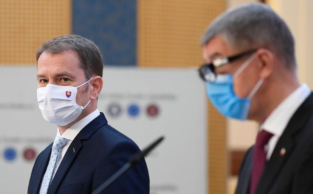 Slovenský předseda vlády Igor Matovič a český premiér Andrej Babiš  (ČTK)