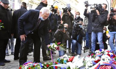 Václav Klaus na Národní třídě (ČTK)