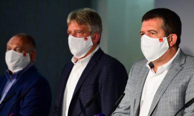 Michal Hašek, Roman Onderka a Jan Hamáček (ČSSD)