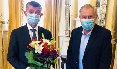Premiér Andrej Babiš a prezident Miloš Zeman (FB)