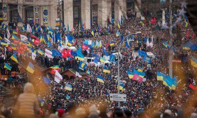 Euromajdan v Kyjevě byl výrazem evropských aspirací Ukrajinců (2013/2014) (wikipedie)