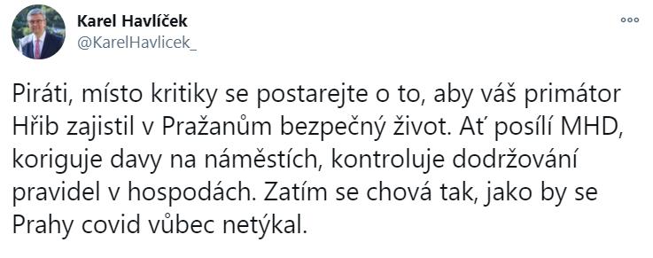 Twitter/Karel Havlíček