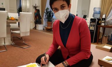 První místopředsedkyně Pirátů Olga Richterová (Twitter / Olga Richterová)