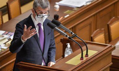 Premiér Andrej Babiš (ANO) při jednání poslanecké sněmovny (ČTK)