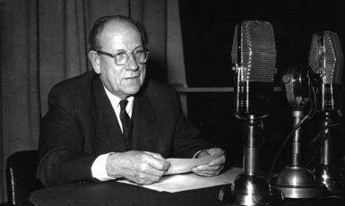 Předseda československé vlády a pozdější prezident Antonín Zápotocký (ČTK)