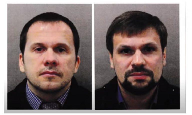 Alexander Petrov a Ruslan Boširov, které britská policie podezírá z pokusu o vraždu Sergeje a Julije Skripalových a z výbuchu muničního areálu ve Vrběticích. (youtube/CBC)