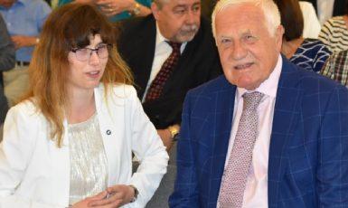 Spříznění duší. Hana Lipovská a Václav Klaus (facebook Hany Lipovské)