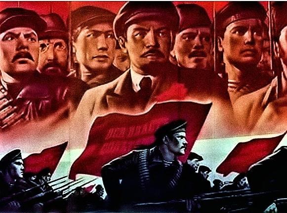 Petra Prokšanová dává najevo svou oddanost komunistické myšlence. (FB Petry Prokšanové)