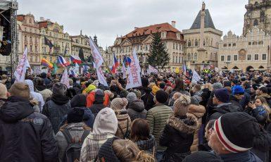 Demonstrace na Staroměstském náměstí, ilustrační snímek  (Alena Spálenská)