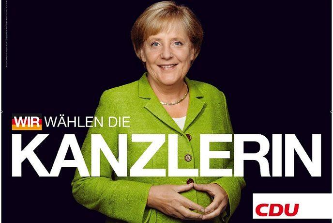 Angela Merkelová - německá spolková kancléřka v letech 2005-2021 (Volební plakát z roku 2009)