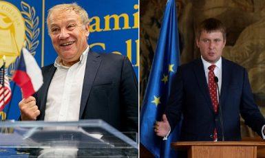 Bývalý diplomat Martin Palouš a ministr zahraničních věcí Tomáš Petříček reflektují postavení Česka v evropském i globálním kontextu (FB+ČTK (koláž))