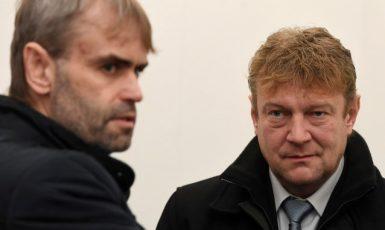 Bývalý ředitel ÚOOZ Robert Šlachta a jeho blízký spolupracovník Jiří Komárek  (ČTK)