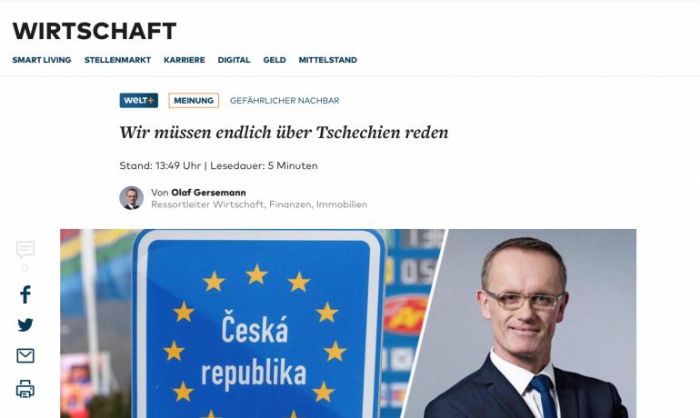 Web deníku Die Welt (screenshot Die Welt)