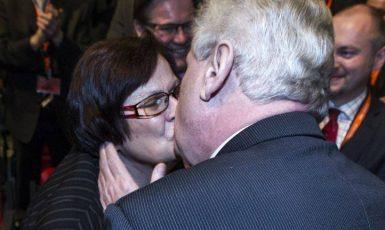 Marie Benešová a Miloš Zeman (FB autora)