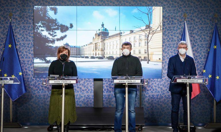 Tisková konference po jednání vlády (Úřad vlády ČR)