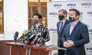 Markéta Pekarová Adamová, Petr Fiala a Marian Jurečka (Koalice SPOLU)