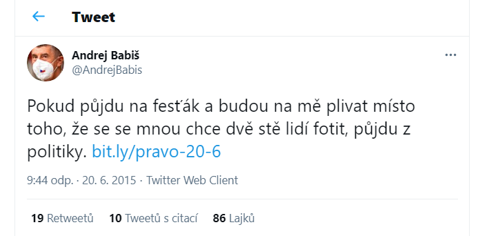 Twitter Andreje Babiše
