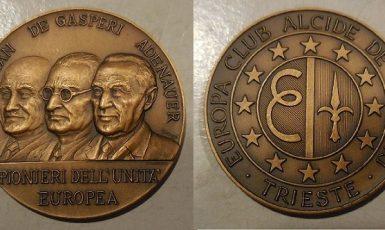 Průkopníci evropského sjednocení ve 20. století (italská pamětní medaile) (FB)
